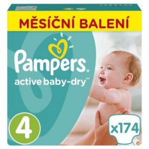 PAMPERS Active Baby-Dry 4 MAXI 7-14 kg 174 kusov