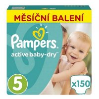 PAMPERS Active Baby-Dry 5 JUNIOR 11-18 kg 150 kusov