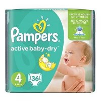 PAMPERS Active Baby-Dry 4 MAXI 8-14 kg 36 kusov