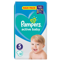 PAMPERS Active Baby Veľkost 5 11-16 kg 51 ks