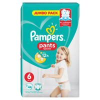 PAMPERS Pants 6 EXTRA LARGE 16+ kg 44 kusov