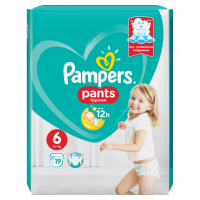 PAMPERS Pants 6 EXTRA LARGE 16+ kg 19 kusov