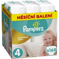 PAMPERS Premium Care Monthly 4 MAXI 8-14 kg 168 kusov