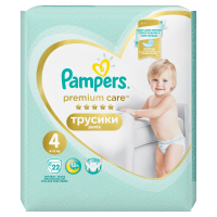 PAMPERS Premium Care Pants 4 MAXI 7-14 kg 22 kusov