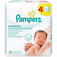 Pampers baby wipes Senstive 4x56ks