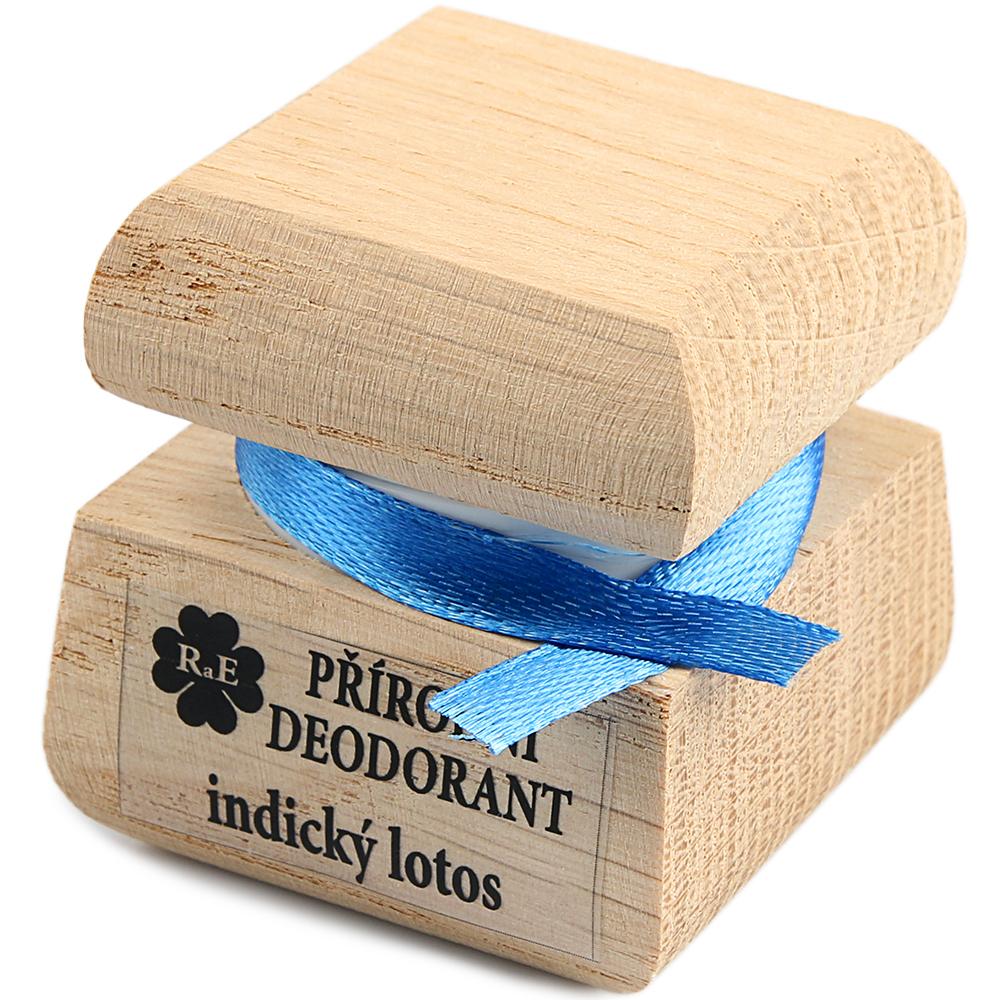 RAE Prírodný krémový dezodorant indický lotos čisto drevená krabička 15 ml