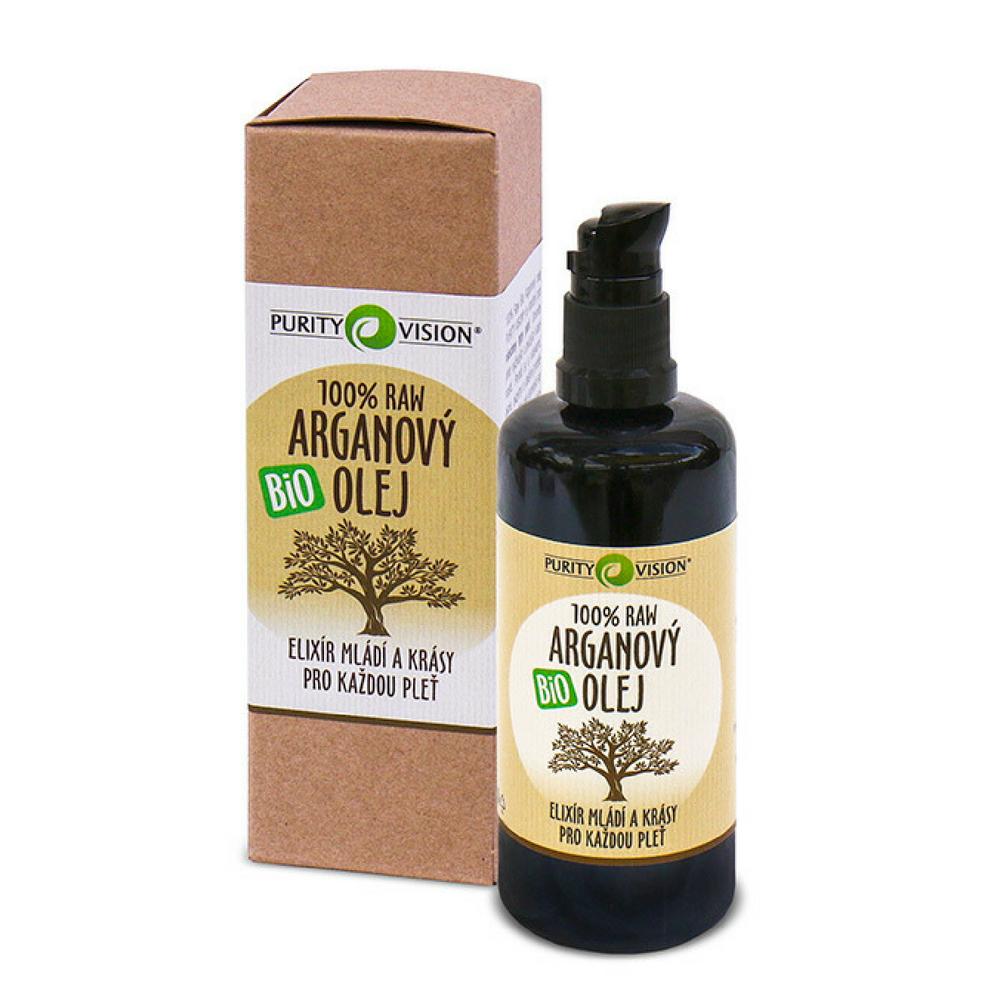PURITY VISION Raw Bio Arganový olej 100 ml