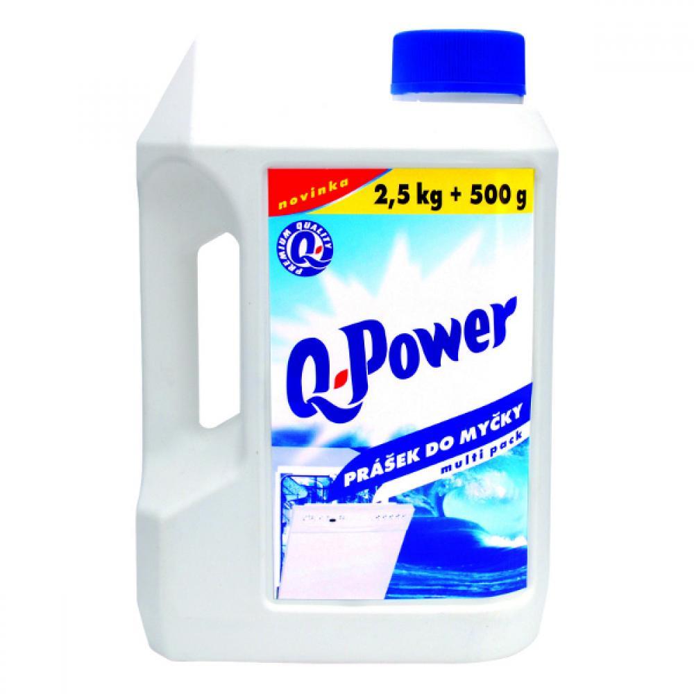 Q power prášek do myčky nádobí 2,5kg+500g