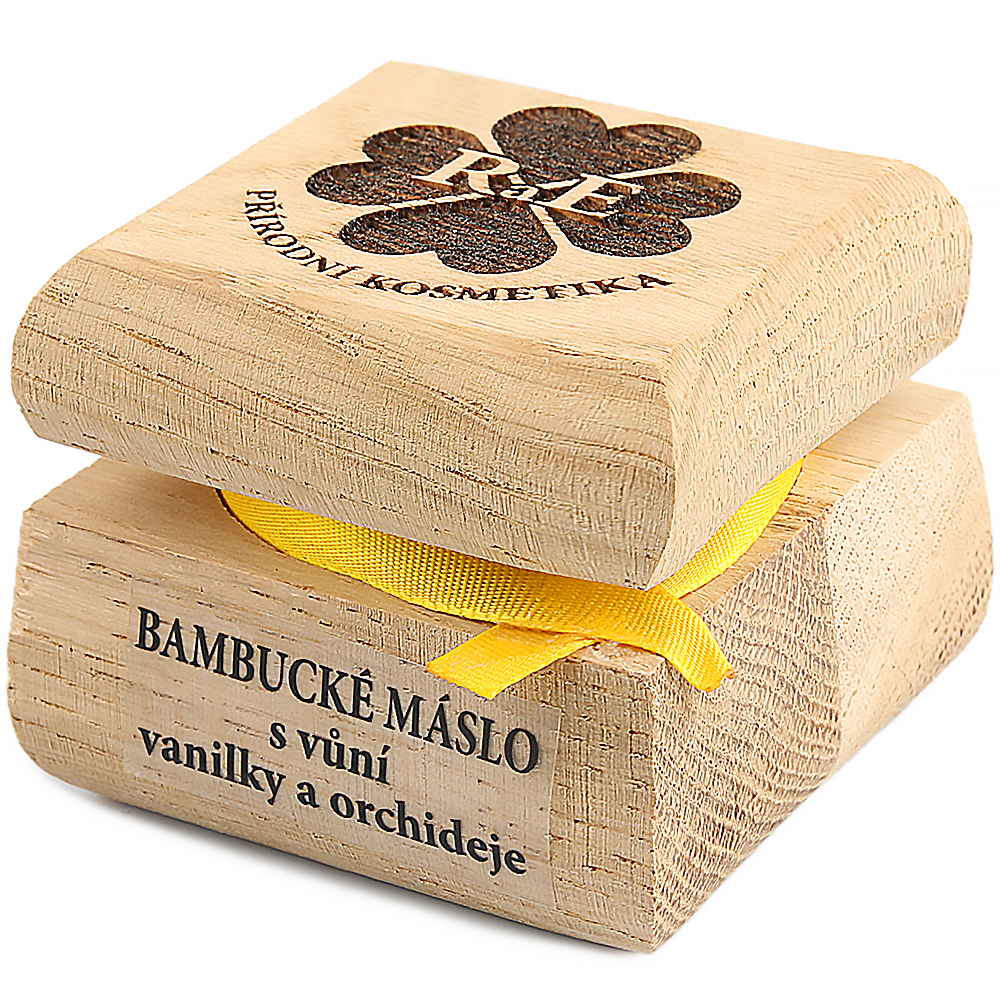 RAE Bambucké maslo s vanilkou a orchideou čisto drevená krabička 30 ml