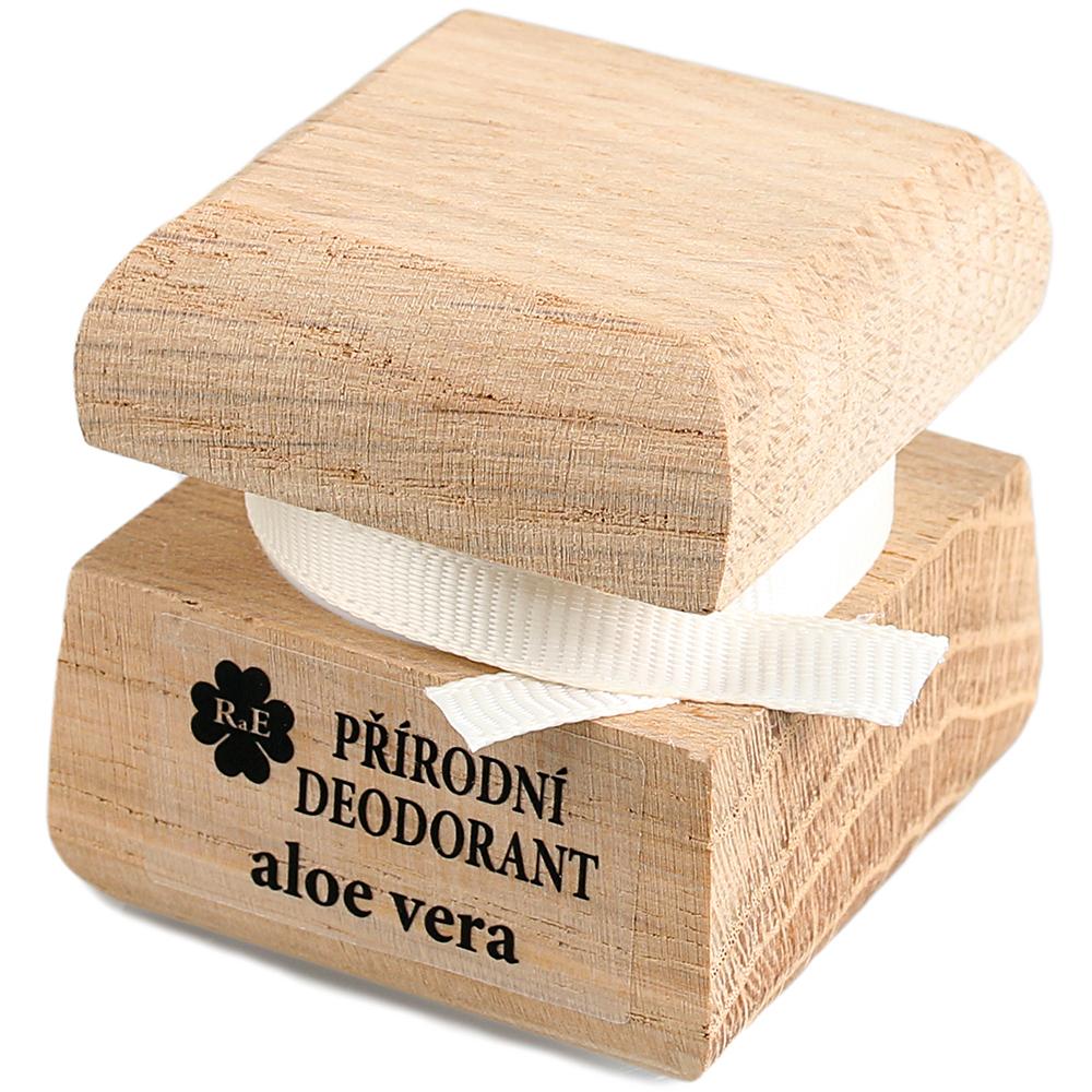 RAE Prírodný krémový dezodorant aloe vera čisto drevená krabička 15 ml