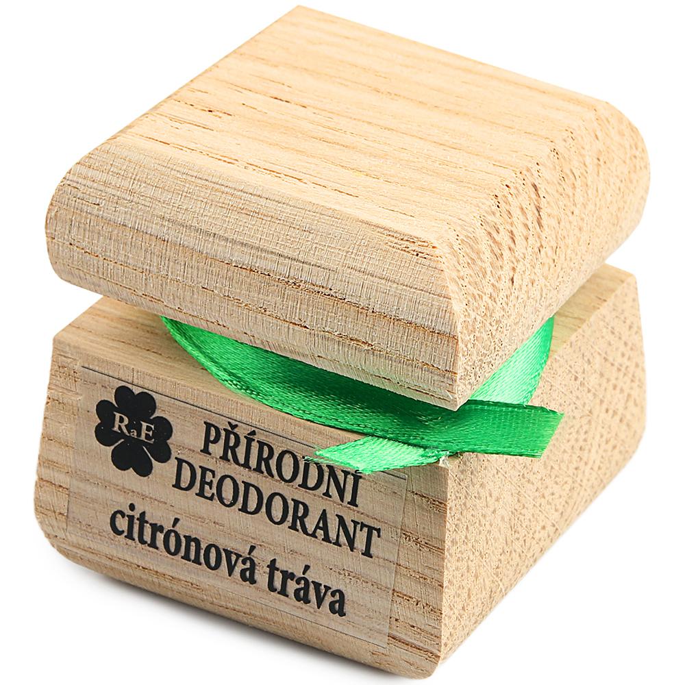 RAE Prírodný krémový dezodorant citrónová tráva čisto drevená krabička 15 ml