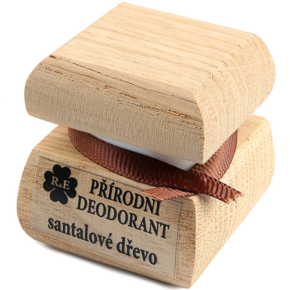 RAE Prírodný krémový dezodorant santalové drevo čisto drevená krabička 15 ml