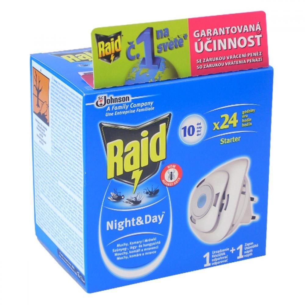 Raid proti komárom a muchám odparovač strojček