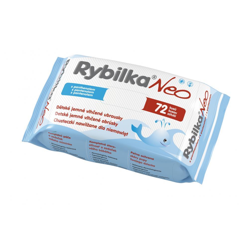 Rybilka NEO s panthenolom detské obrúsky72 ks