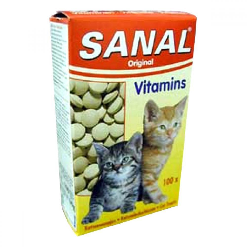 Sanal mačka Vitamins kalcium s vitamínmi 60g / 100tbl