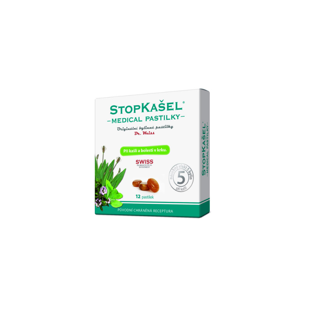 STOPKAŠEL Medical pastilky Dr.Weiss 12 pastiliek