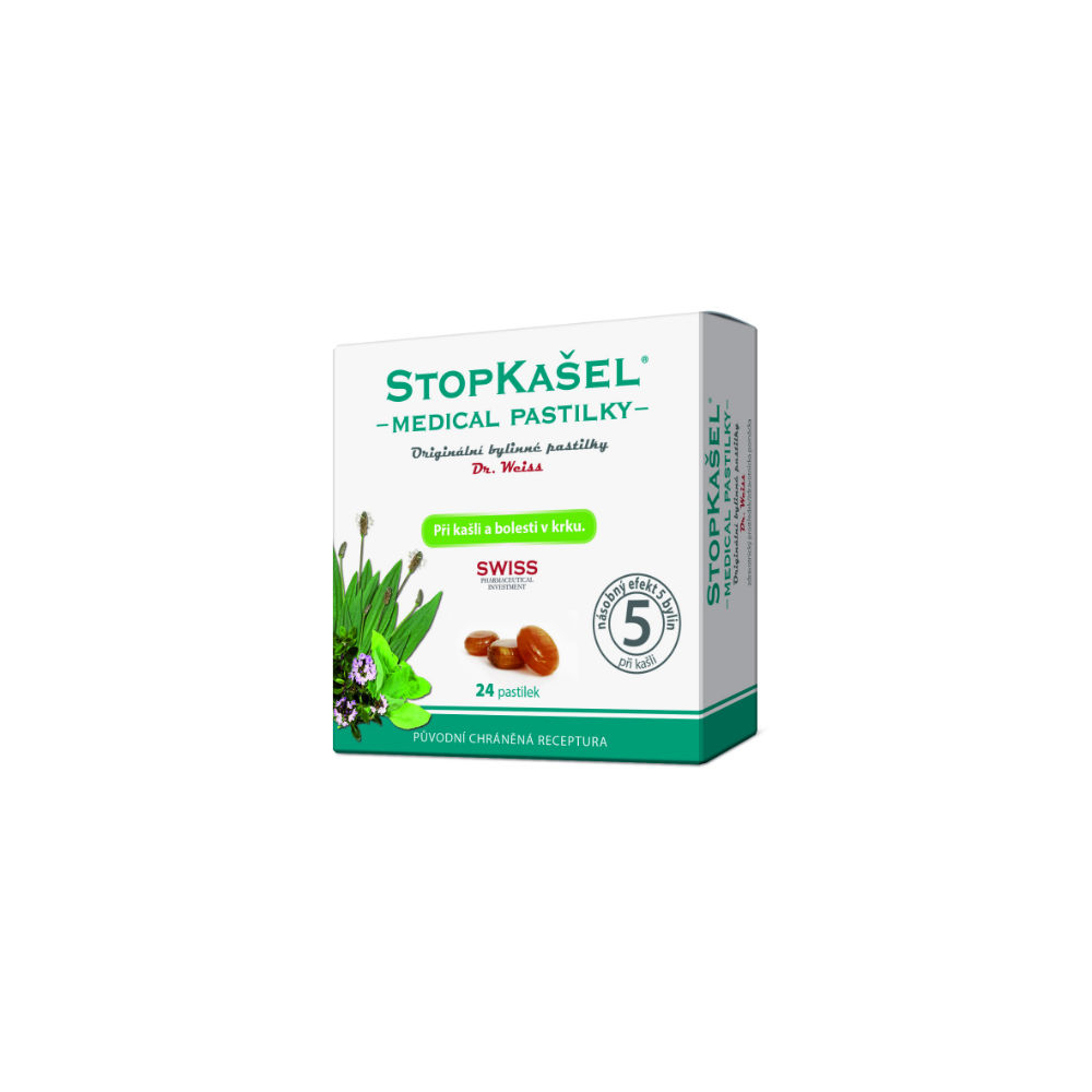 STOPKAŠEL Medical pastilky Dr.Weiss 24 pastiliek