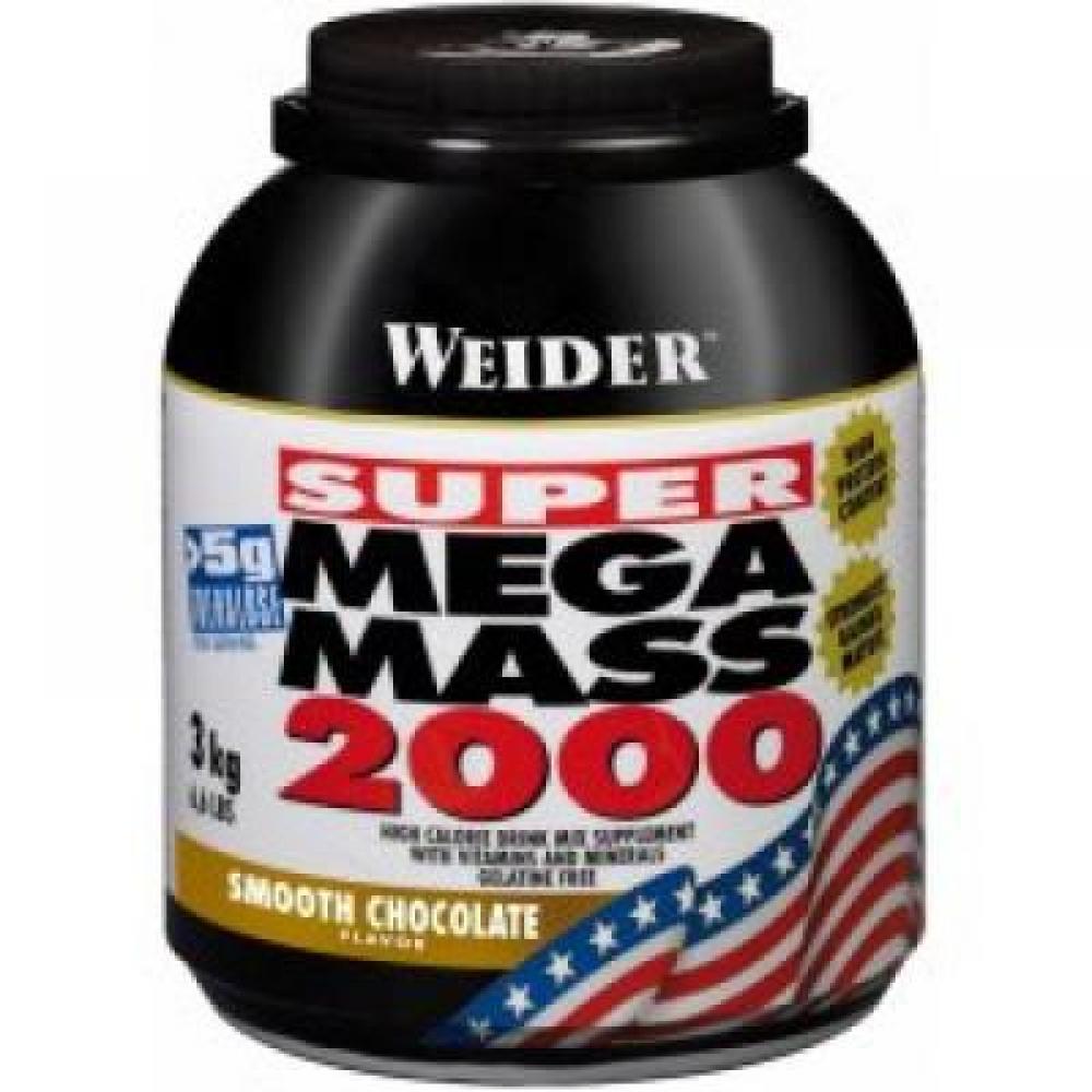 Super Mega Mass 2000, Gainer, Weider, 3000 g - Vanilka