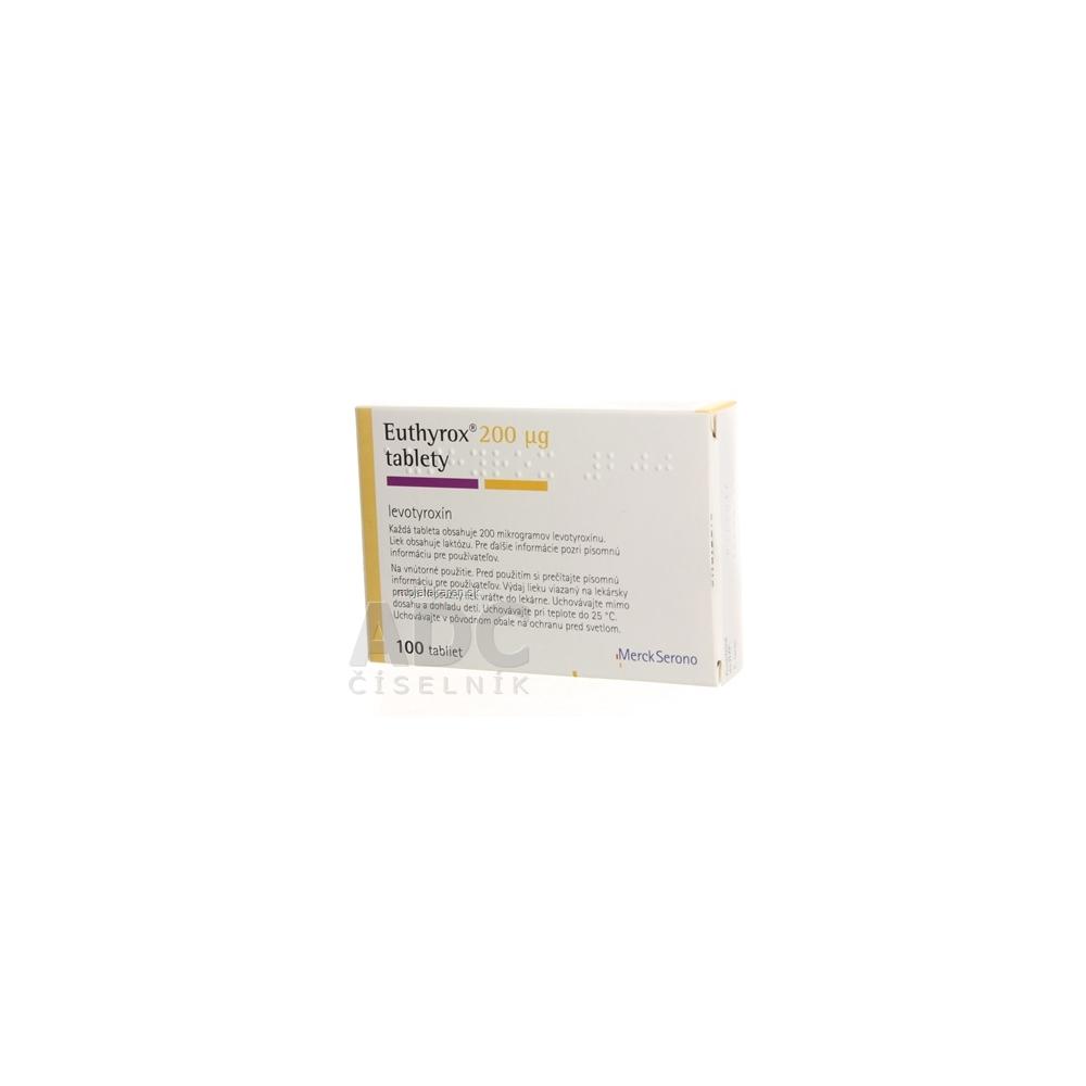 Euthyrox 200 µg tbl 200 µg (PVC blister) 1x100 ks - MojaLekáreň.sk ecccf30ceb1