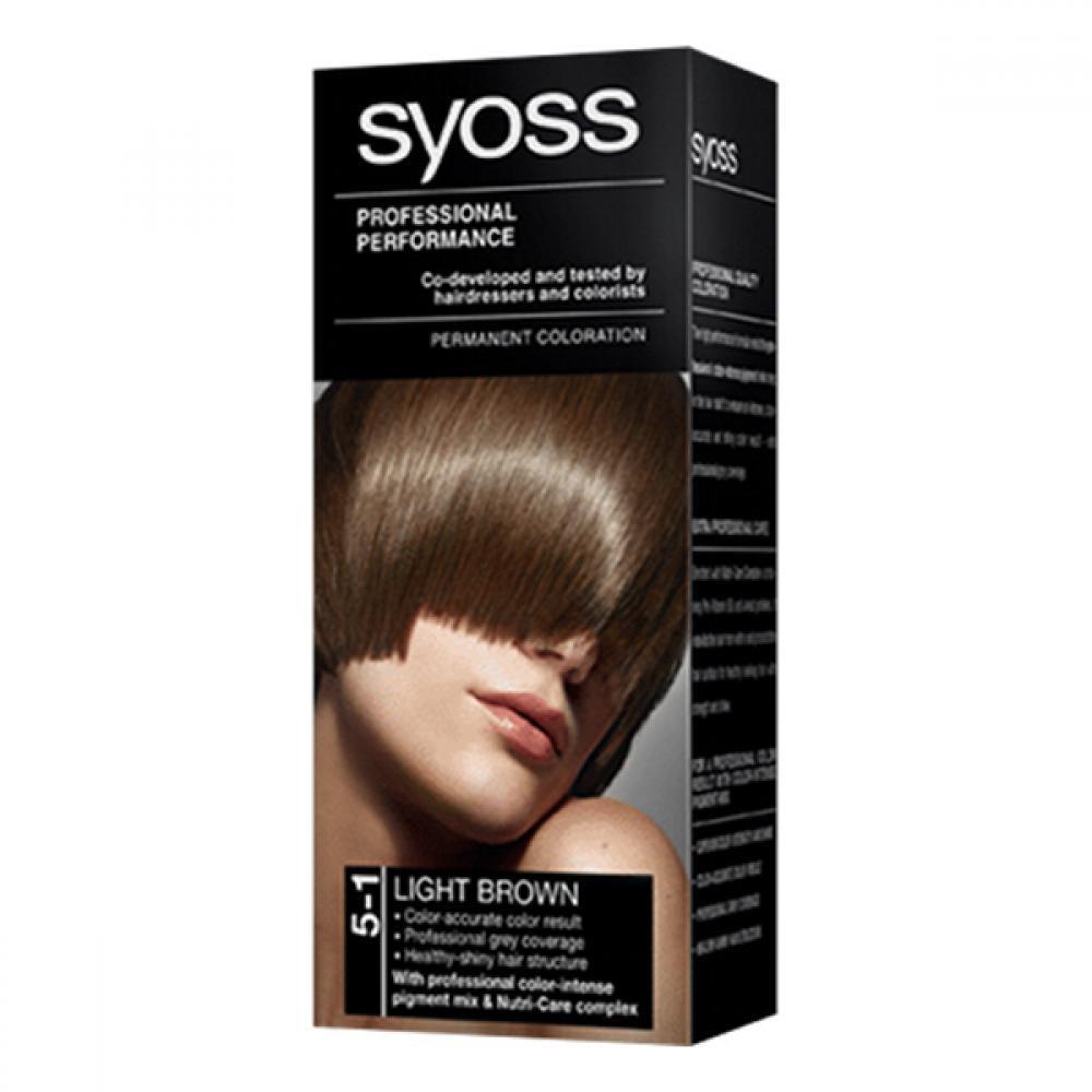 SYOSS farba na vlasy odtieň svetlo hnedý 5-1