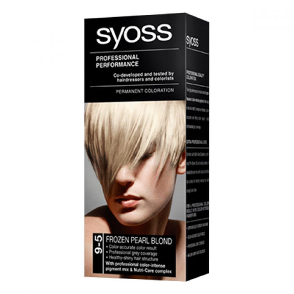 SYOSS farba na vlasy odtieň ľadovo perleťovo plavý 9-5