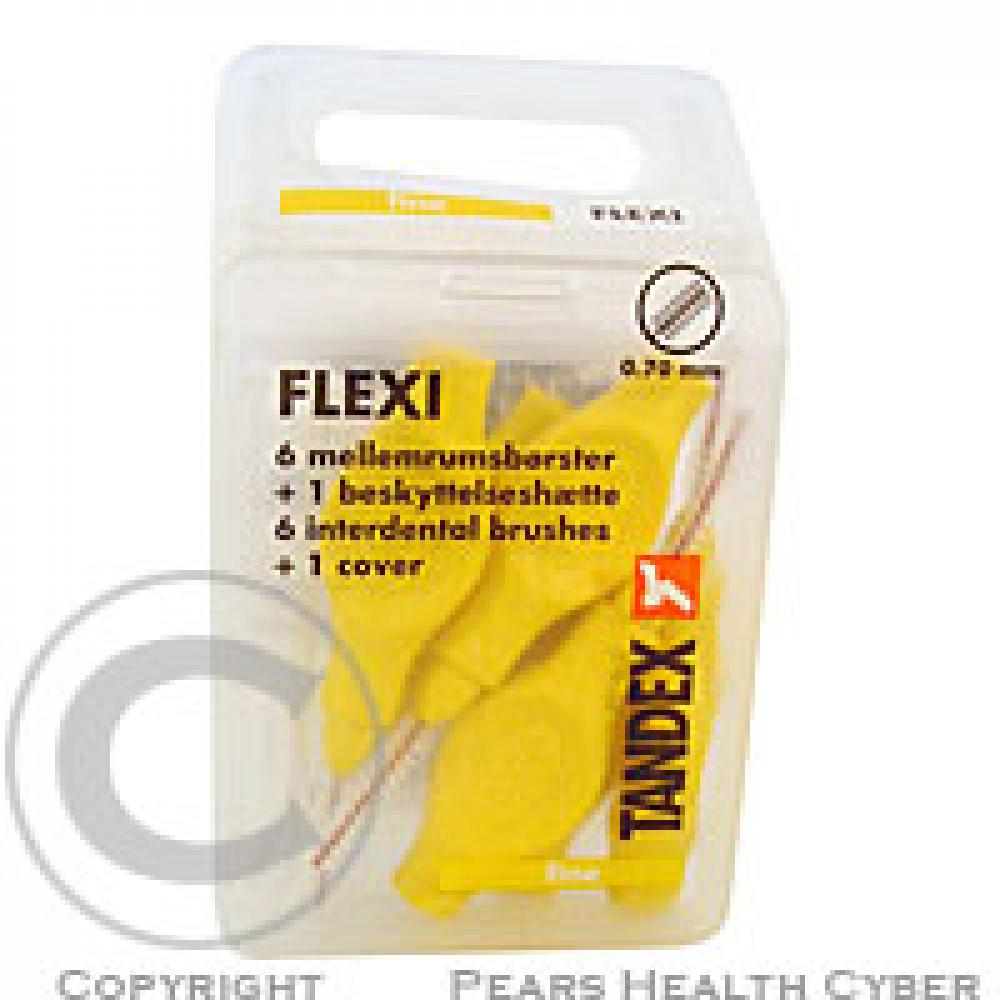 Tandex Flexi mezizub.kart.0.7 žlté TA819075 6ks