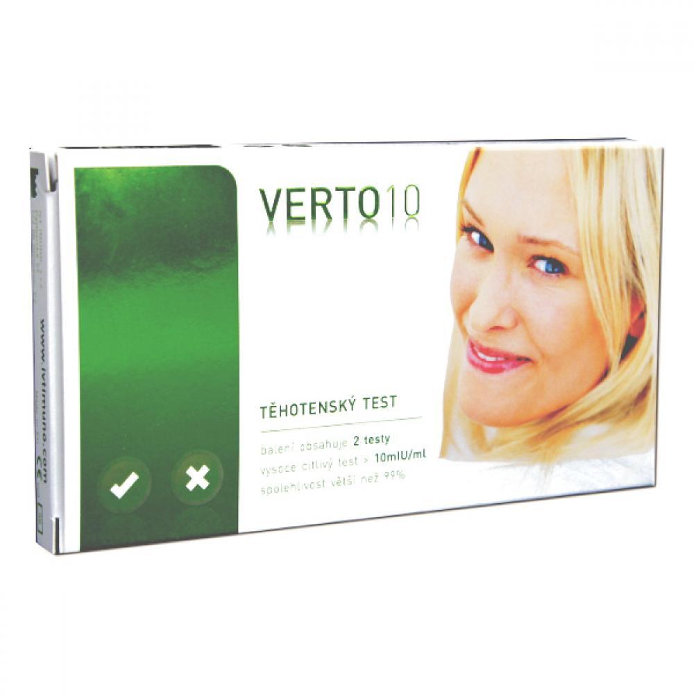 Tehotenský test VERTO 10 (2 ks v balení)