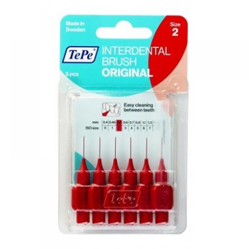 TEPE Medzizubné kefky ORIGINAL červené 0,5 mm 6 ks