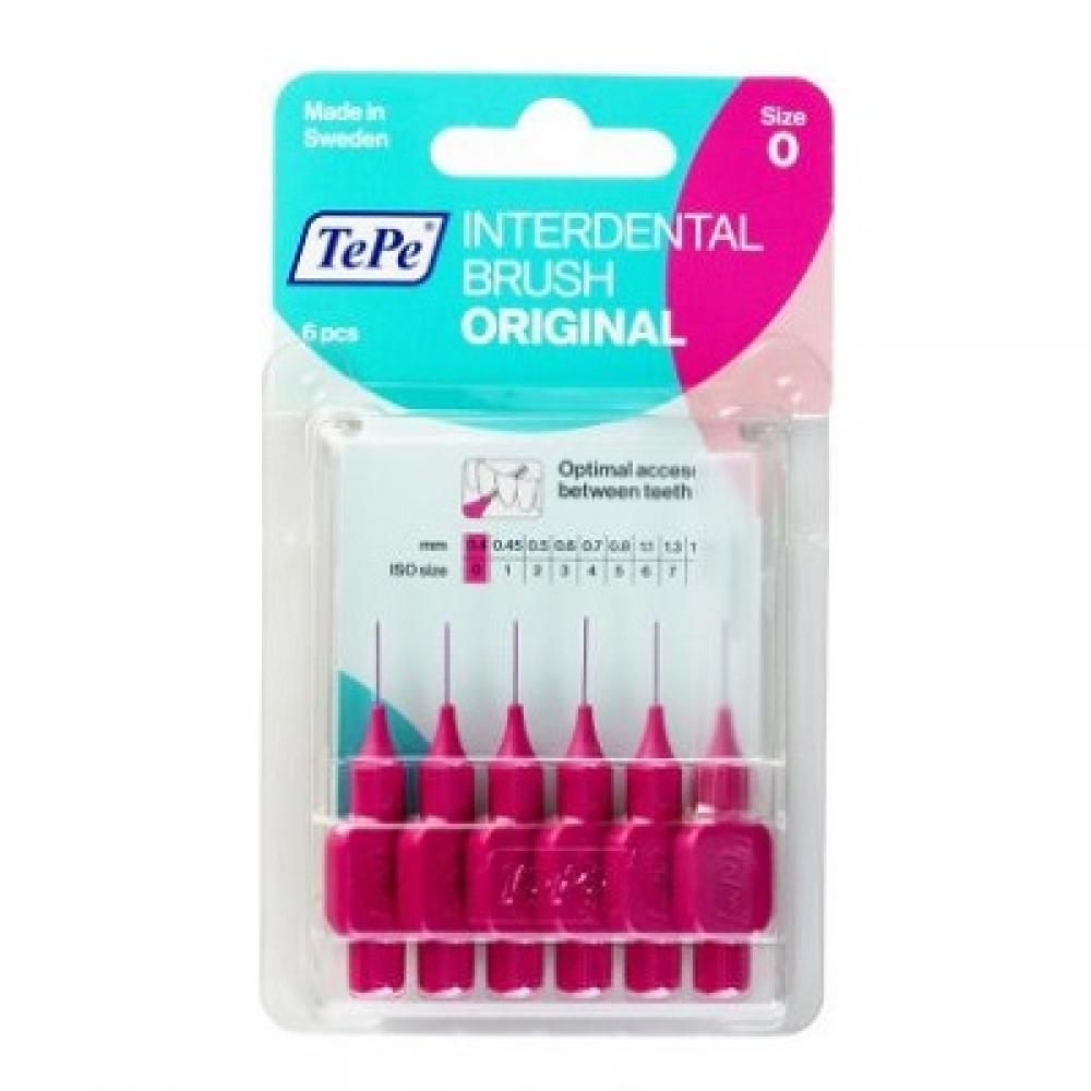 TEPE Medzizubné kefky ORIGINAL ružové 0,4 mm 6 ks