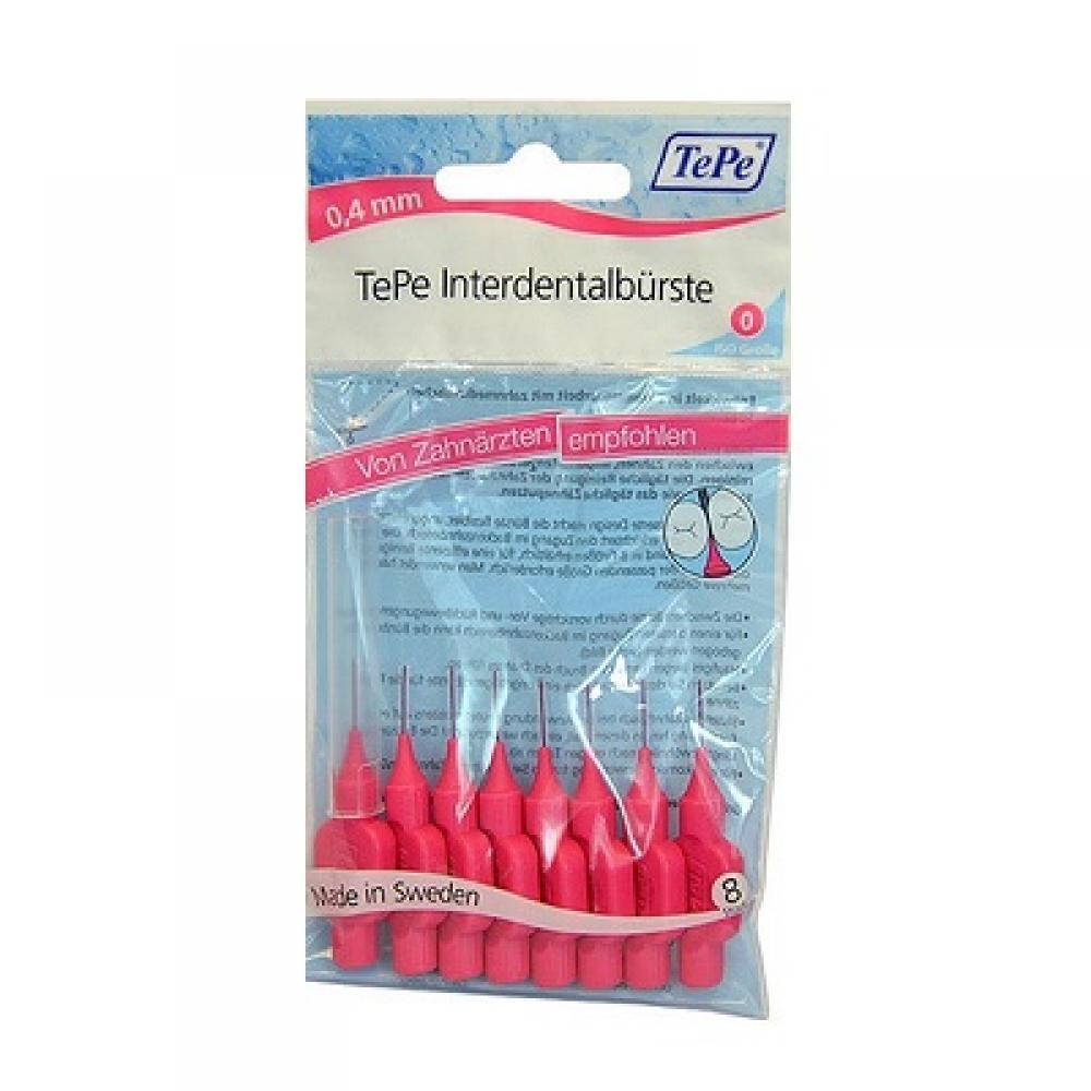 TEPE Medzizubné kefky ružové 0,4 mm 8 ks: Výprodej