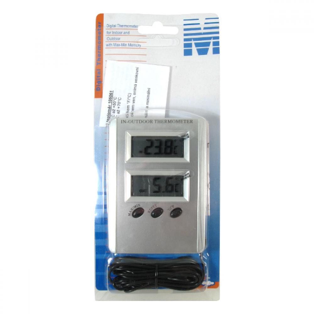 Teplomer vonkajšie aj izbový elektronický -50 + 70 ° C