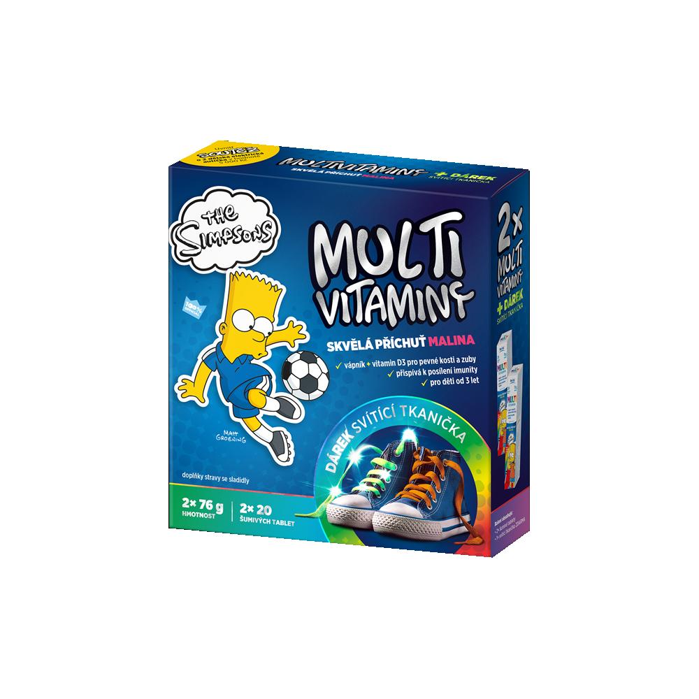 REVITAL The Simpsons Multivitamíny 2x20 tabliet + DARČEK žiarivé šnúrky
