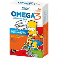 REVITAL The Simpsons Revital Omega 3 + vitamíny D3 a E 60 kapsúl