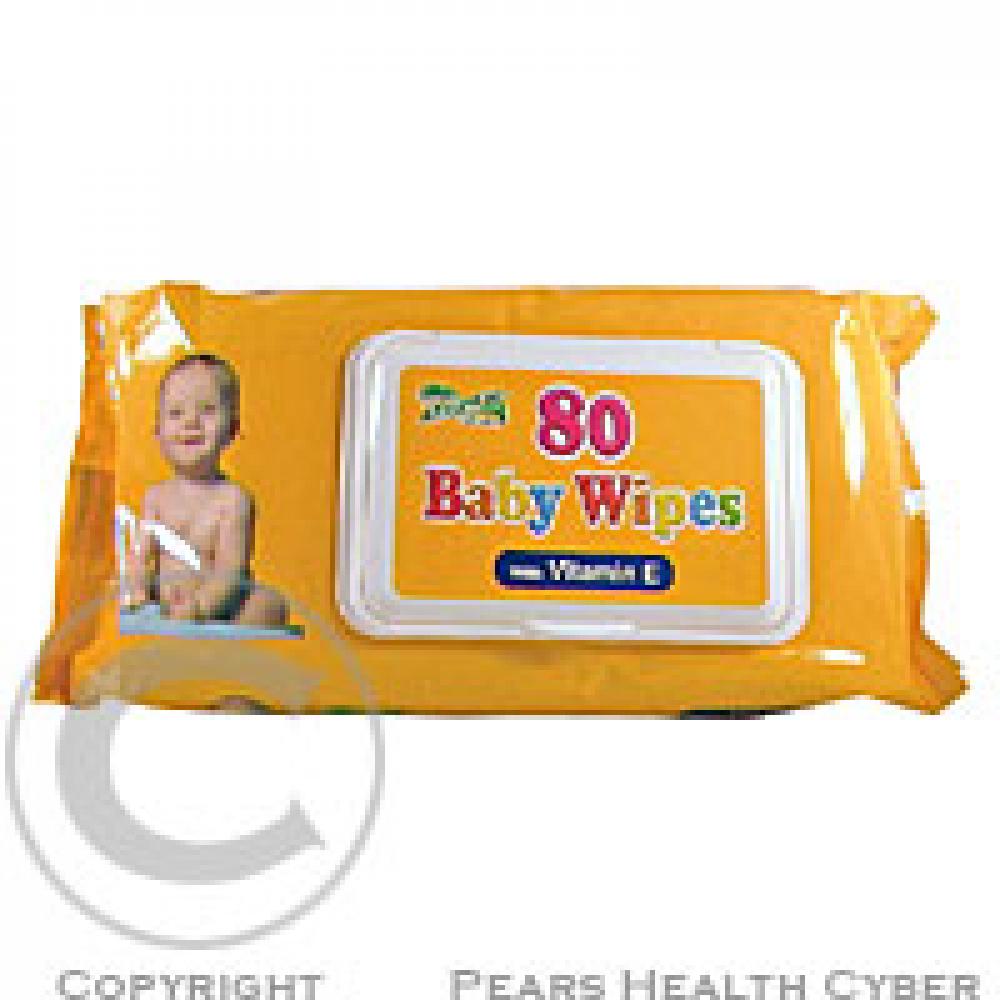 Baby Wipes detské hygienické ubrousky s vitamínom E 80 ks