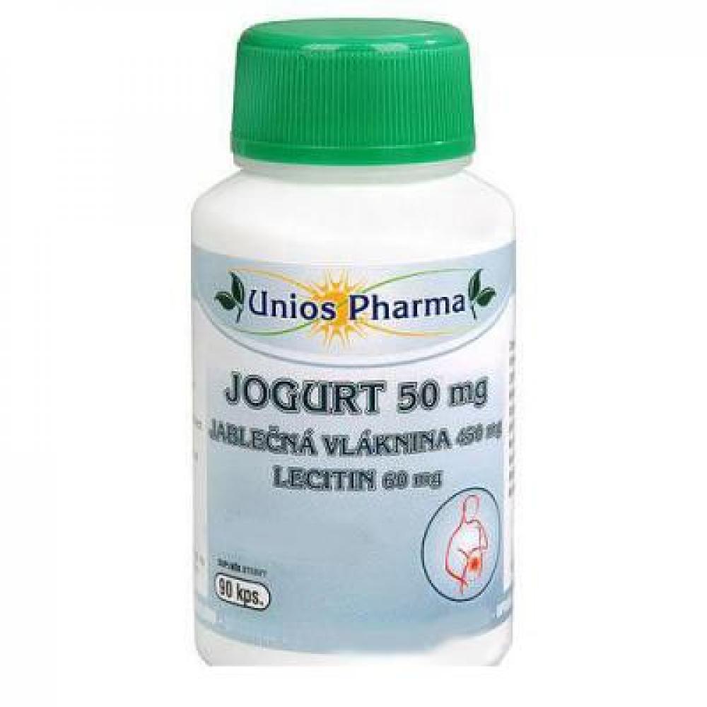 Uniospharma-Jogurt 50mg + Jablková vláknina + lecitín 90cps