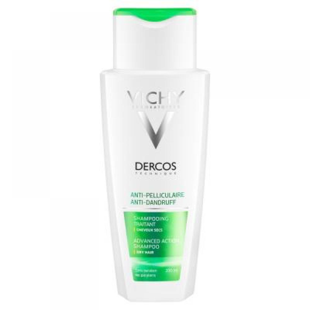 VICHY Dercos šampón proti lupinám na suché vlasy 200 ml