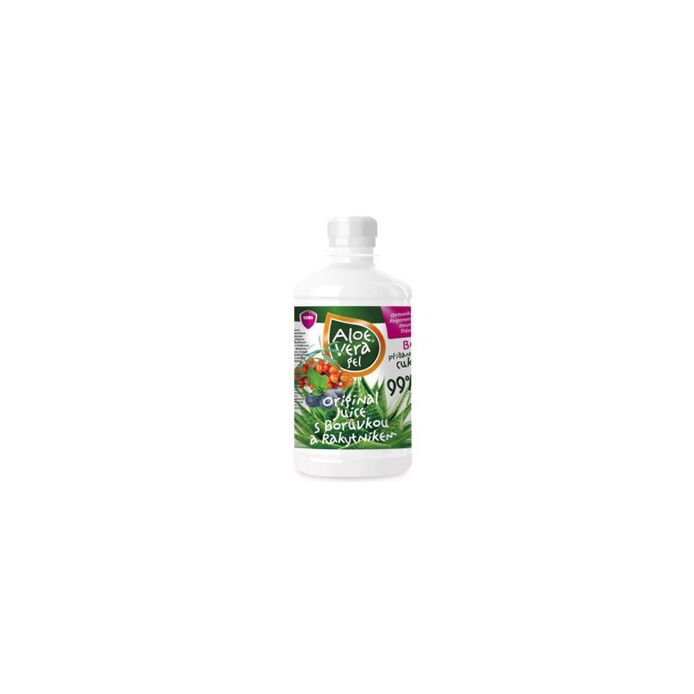 VIRDE Aloe vera gél čučoriedka a rakytník 500 ml