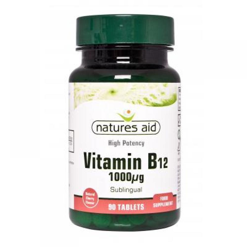 Natures Aid Vitamín B12 1000mcg 90 tabliet