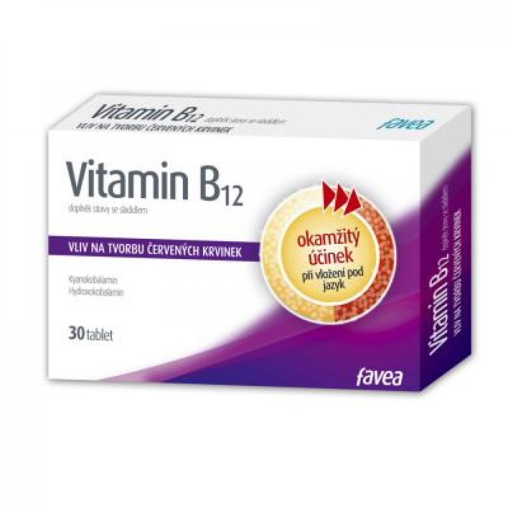 FAVEA Vitamín B12 - 30 tabliet