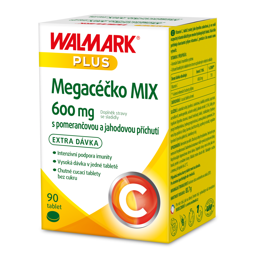 WALMARK Megacéčko Mix Vitamín C 600mg 90 tabliet