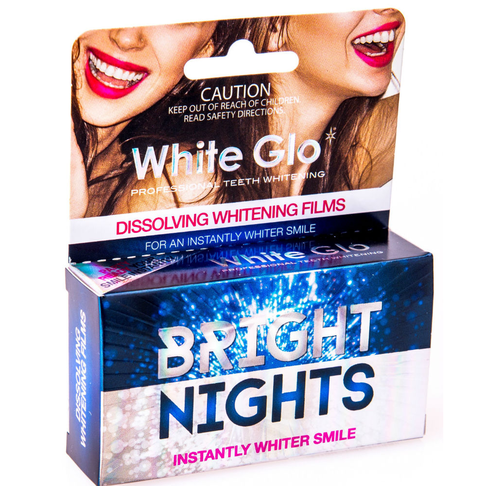 WHITE GLO Bright Nights Rozpustenie bieliacich filmov