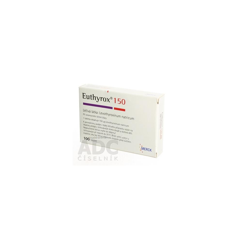 EUTHYROX 150 µg tbl 150 µg (PP blister) 1x100 ks - MojaLekáreň.sk 67e3836138b